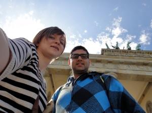 """""""Ich ein est Berliner"""" at the Brandenburg Gate. Myself and the bf."""